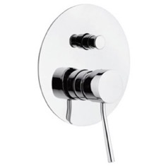 Single-Lever Bath and Shower Diverter With Deluxe Flange